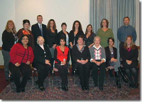 Recipients of Zonta Local Service Grants at check presentation, November 2010