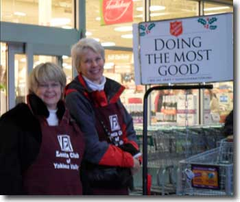 Bell ringing in Yakima for the Salvation Army